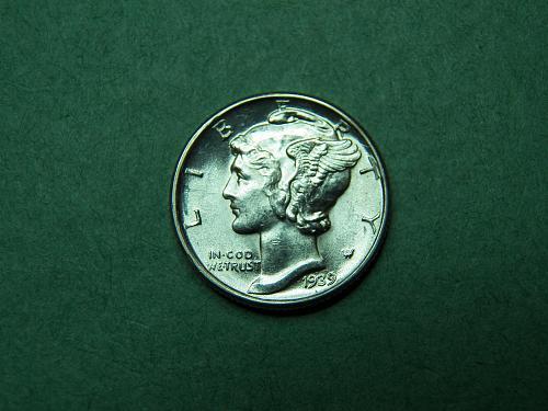 1939 D Mercury Dime  Brilliant Uncirculated Coin   w33