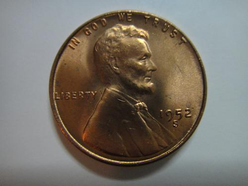 1952-S Lincoln Cent MS-64 (Near Gem) RED