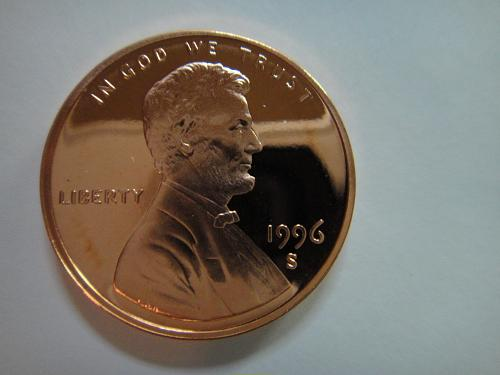 1996-S Lincoln Cent Proof-65 (GEM) RED