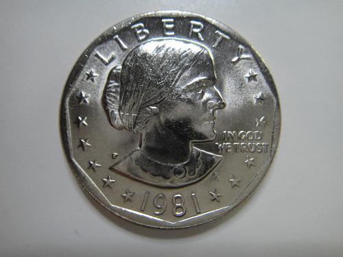 1981-P Anthony Dollar MS-65 (GEM)