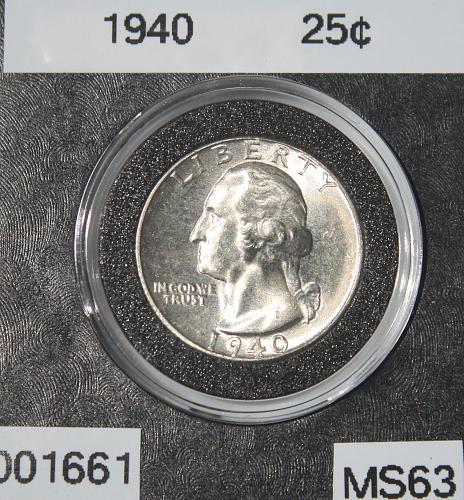 1940 P Washington Quarter