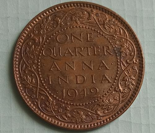 (1) British India circulated coin