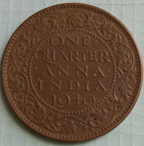 1940.. British ndia circulated  Calcutta coin