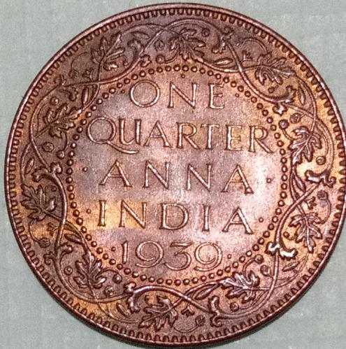 1939  British ndia circulated  Calcutta coin.(.Ref.8)