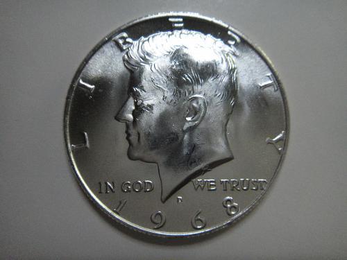 1968-D Kennedy Half Dollar MS-63 (Choice BU)