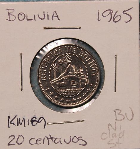 Bolivia 1965 20 centavos