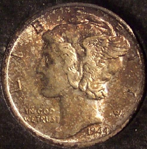 1944-D Mercury Head Dime BU/FSB #0141