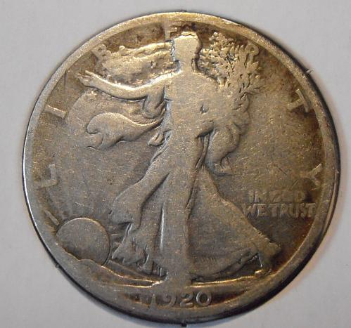 1920 P Walking Liberty Half Dollar (20PEW3)