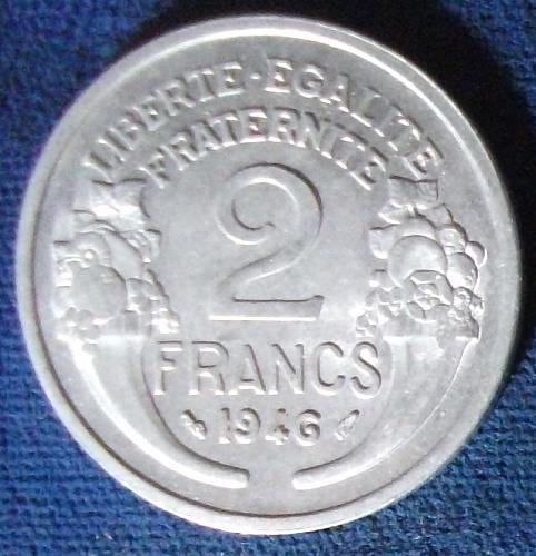 1946 France 2 Francs AU