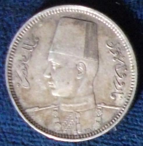 1937 Egypt 2 Piastres XF