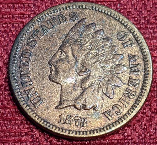 1873 CLOSED 3 VERY GOOD INDIAN CENT