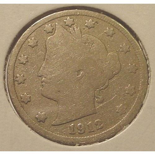 "1912 Liberty Head ""V"" Nickel G4 #0222"