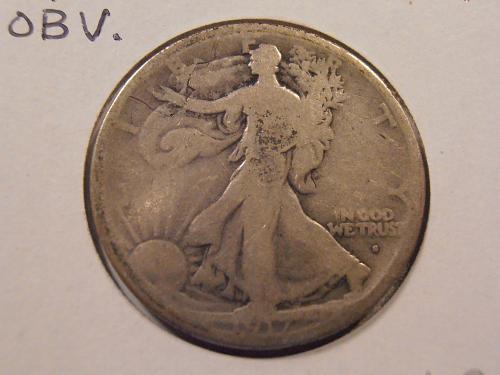 1917 S Walking Liberty Half Dollar Obverse Mint mark (17SO1)