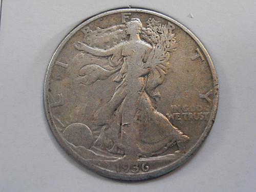 1936 D Walking Liberty Half Dollar (36DAC2)