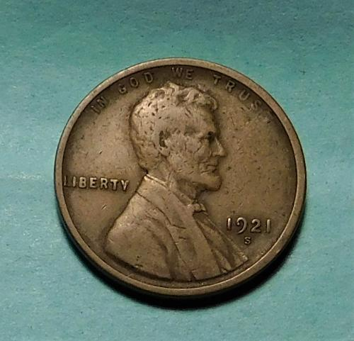 1921 S Lincoln Wheat Cent