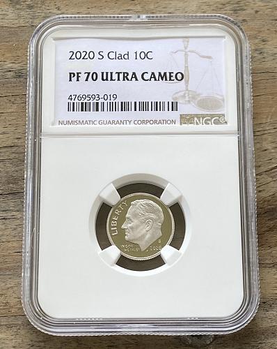 2020-S 10c Clad PF70