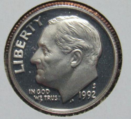 1992 S Roosevelt Dime