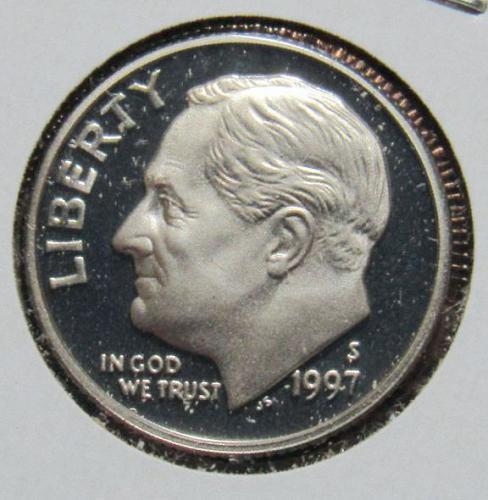 1997 S Roosevelt Dime Proof