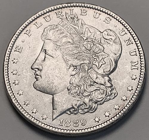 1889 Morgan Silver Dollar BU [MDL 381]