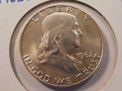 1962 D Franklin Silver Half Dollar (62D10)