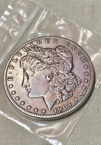 LOW MINTAGE! 1904 S Morgan Silver Dollar! AU57+ Near MS!