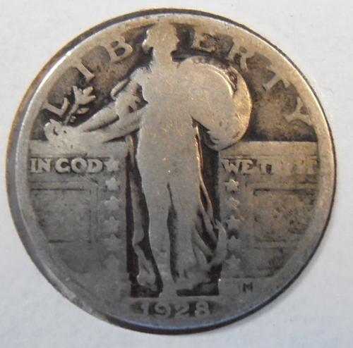 1928 P Standing Liberty Silver Quarter,  (28PLR1)