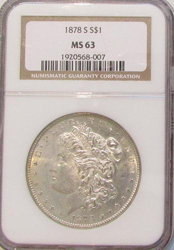 1878s Morgan Dollar  MS63