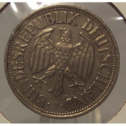 1950-J West German 1 Mark Coin #0266