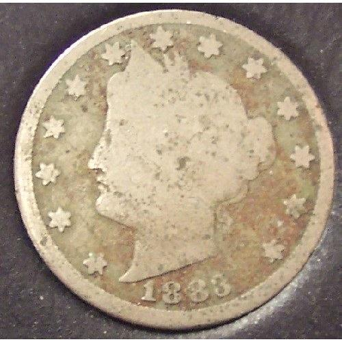 1883 Liberty Head Nickel With CENTS G4 #0267