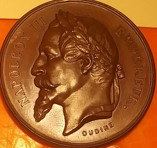 France 🇫🇷 Imperial Bust Shooting Medal Napoleon III 1852-1871