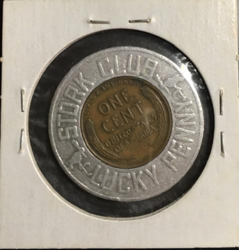 Lucky Encased Cent 1939 P Wheat VG
