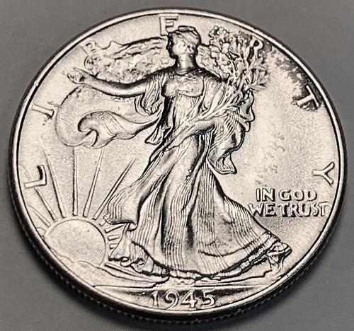 1945 Walking Liberty Half Dollar BU [WL 170]