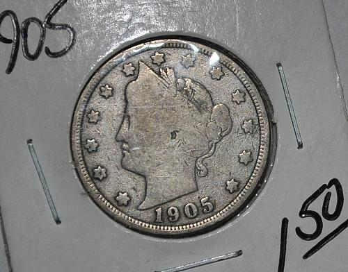 1905 P Liberty Nickel