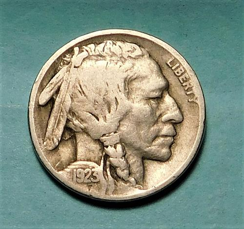 1923 P Buffalo//Indian Head Nickel