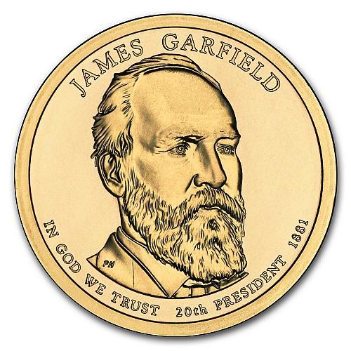 2011  D JAMES GARFIELD GOLDEN  DOLLAR