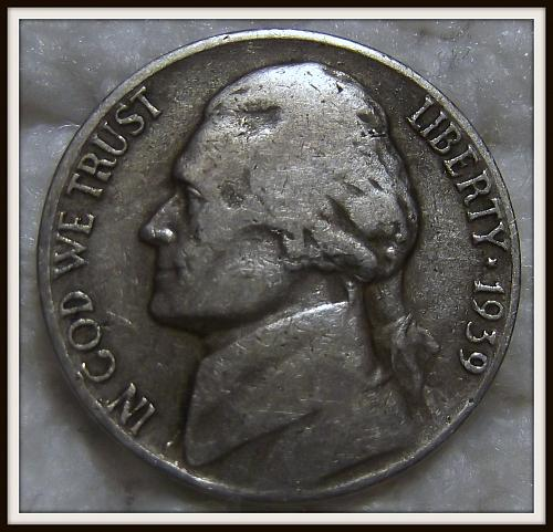 1939-D 5C Jefferson Nickel