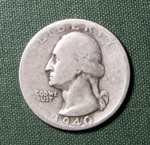 1940S Silver Washington Quarter