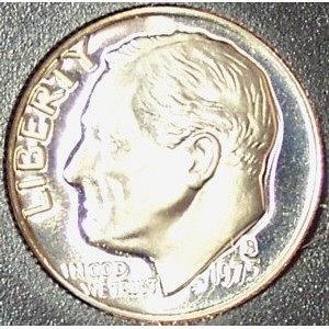 1975-S DCAM Proof Roosevelt Dime PF65 #0284
