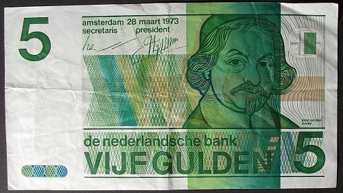 Netherlands P95 5 Gulden F-VF