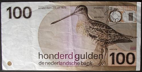 Netherlands P97a 100 Gulden F-VF