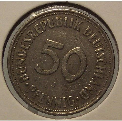 1950-J West German 50 Pfennig #0289
