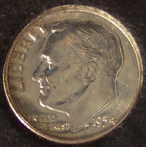 1954 GEM Proof Roosevelt Dime #0290