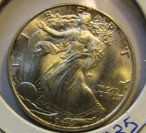 1944-P Walking Liberty Half Dollar GEM BU SILVER EXPLODES !!!
