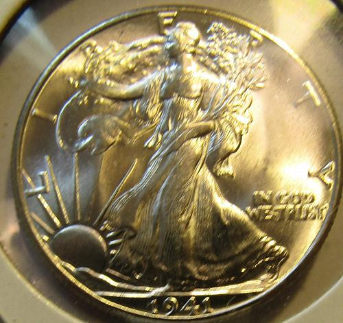 1941-P Walking :Liberty Half Dollar  SILVER EXPLODES ///