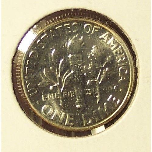 1955 GEM Proof Roosevelt Silver Dime PF65 #0304