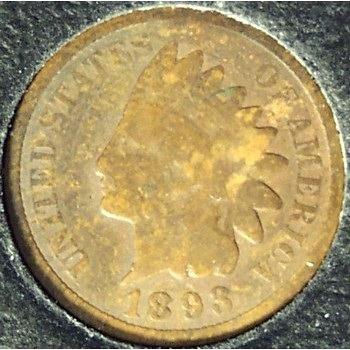 1893 Indian Head Penny G4 #0306