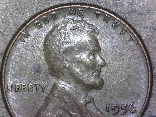 1956 - P penny spike head