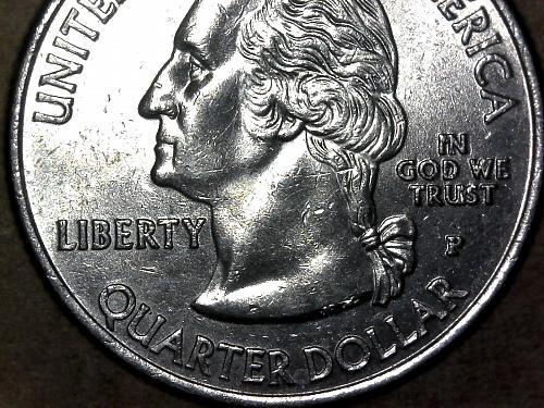 2009 - P U.S. Virgin Islands obverse die chip