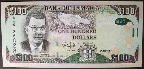 Jamaica P95a 100 Dollars UNC65