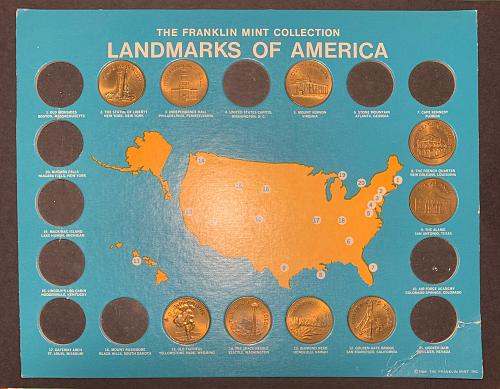 1969 Franklin Mint Landmarks of America Coin Collection